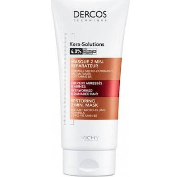 Vichy Dercos Kera-solutions 2min Restoring Μάσκα Για Ξηρά Ταλαιπωρημένα Μαλλιά 200ml