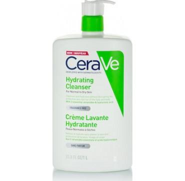 Cerave Hydrating Cleanser Κρέμα Καθαρισμού για Κανονικό εώς Ξηρό Δέρμα 1lt
