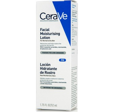 Cerave Facial Moisturizing Lotion Ενυδατική Κρέμα Προσώπου Για Κανονικές/ξηρές Επιδερμίδες 52ml
