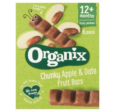 Organix Μπάρες Φρούτων Χουρμάδες & Μήλο 6x17g