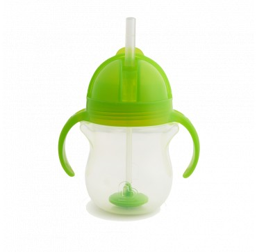 Munchkin Tip & Sip Straw Cup Click Lock Green (11888) 6m+ 207ml 1τμχ.