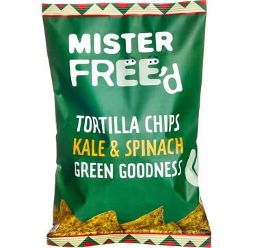 MISTER FREED TORTILLA CHIPS KALE SPINACH GREEN GOODNESS 135g