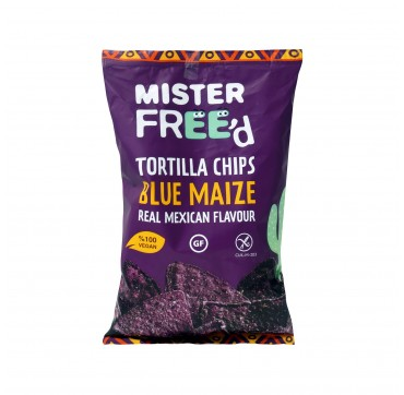 MISTER FREED TORTILLA CHIPS BLUE MAIZE REAL MEXICAN FLAVOUR 135g