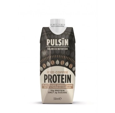 Pulsin Balanced Nutrition Iced Coffee Protein 15g Protein Only 2g Sugar High In Fibre 330ml