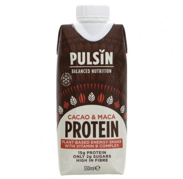Pulsin Balanced Nutrition Cacao And Maca Protein 15g Protein Only 2g Sugar High In Fibre 330ml