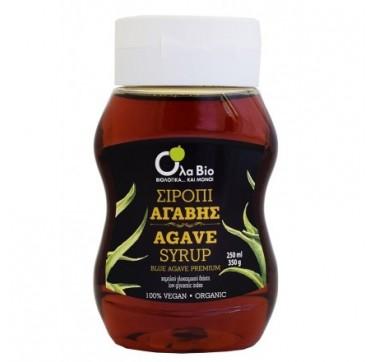Όλα Bio Σιρόπι Αγαβης ΧαΜήλου Γλυκαιμικού Δείκτη 100% Vegan - Organic 350g (250ml)