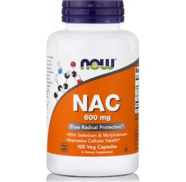 Now Nac 600mg 100 Veg Caps