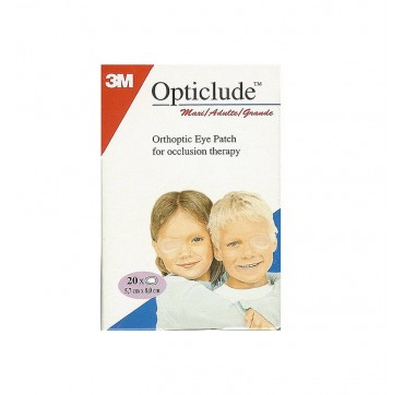 Opticlude Orthoptic Eye Patch For Occlusion Therapy 20χ (5, 7cm X 8, 2cm)