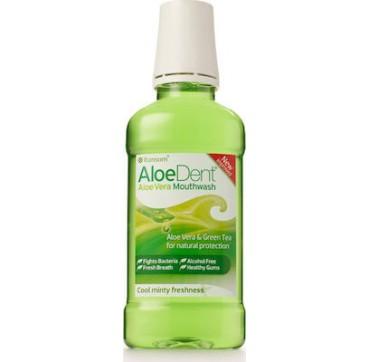 Optima Aloedent Aloe Vera Mouthwash Fluoride Free Aloe Vera & Tea Tree Natural Action 250ml