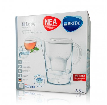 Brita Marella Xl Κανάτα Καθαρισμού Νερού 3500ml
