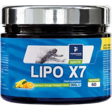 MYELEMENTS LIPO X7 FOOD SUPPLEMENT DELICIOUS ORANGE PINEAPPLE FLAVOUR - ΓΕΥΣΗ ΠΟΡΤΟΚΑΛΙ ΑΝΑΝΑΣ x60 SERVINGS 300g