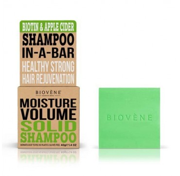 Biovene Moisture Volume Shampoo In A Bar (solid Shampoo) Biotin & Apple Cider - Σαμπουάν (στερεό) Βιοτινη Και Μηλίτη 40g