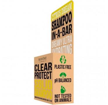 Biovene Clear Protect Shampoo In A Bar (solid Shampoo) Citrus - Σαμπουάν (στερεό Σαμπουάν) Εσπεριδοειδών 40g