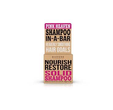 BIOVENE NOURISH RESTORE SHAMPOO IN A BAR (SOLID SHAMPOO) PINK HEAVEN - ΣΑΜΠΟΥΑΝ (ΣΤΕΡΕΟ) 40g