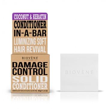 Biovene Damage Control Conditioner In A Bar (solid Conditioner) Coconut & Keratin - Μαλακτικό (στερεό) Καρύδα Και Κεράτινη 40g