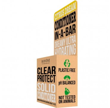 Biovene Clear Protect Conditioner In A Bar (solid) Citrus - Μαλακτικό (στερεό) Εσπεριδοειδών 40g