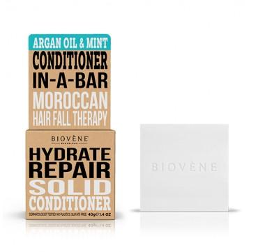Biovene Hydrate Repair Conditioner In A Bar (solid) Argan Oil & Mint - Μαλακτικό (στερεό) Έλαιο Αργκαν Και Μέντα 40g