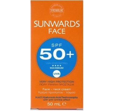 SYNCHROLINE SUNWARDS SPF50 FACE & NECK CREAM 50ML