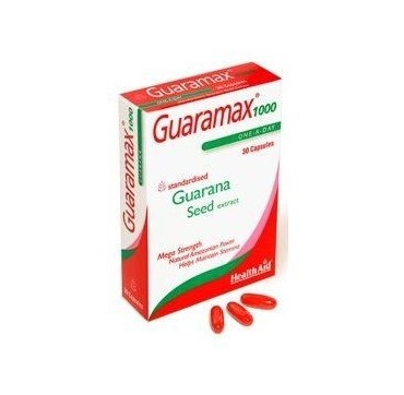Health Aid Guaramax Guarana 1000mg 30caps