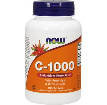 NOW VIT.C 1000 WITH ROSE HIPS 100 TABS