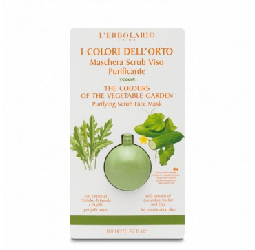 PURIFYING SCRUB FACE MASK THE COLOURS OF THE VEGETABLE GARDEN 8ML