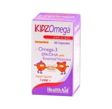Health Aid Kidzomega Orange Μασώμενα 60caps