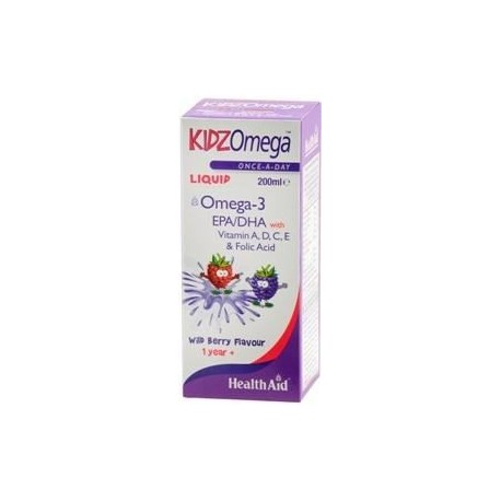 HEALTH AID KIDZOMEGA LIQUID BERRY 200ML