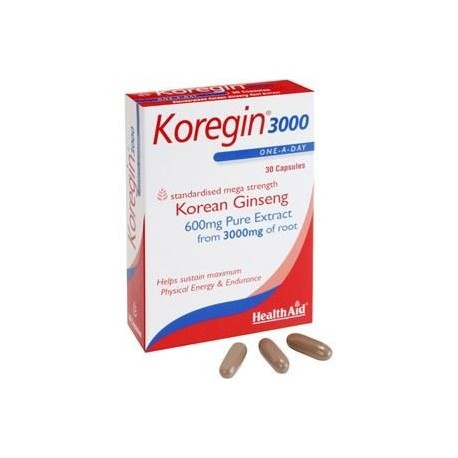 HEALTH AID KOREGIN 3000 KOREAN GINSENG 600mg 30caps