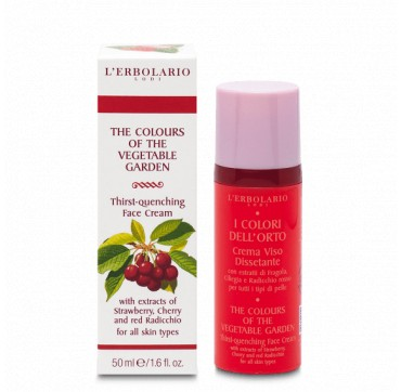 L'ERBOLARIO THE COLOURS OF THE VEGETABLE GARDEN THIRST - QUENCHING FACE CREAM 50ML
