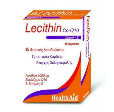 HEALTH AID LECITHIN 1000mg CO-Q10 30caps