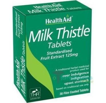HEALTH AID MILK THISTLE 125mg 30tabs