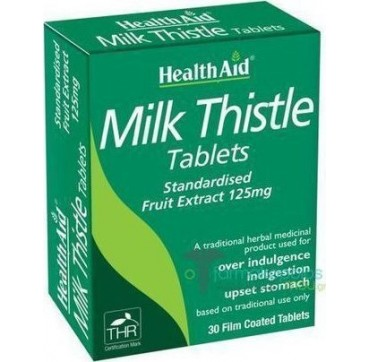 HEALTH AID MILK THISTLE 125mg 30tabs