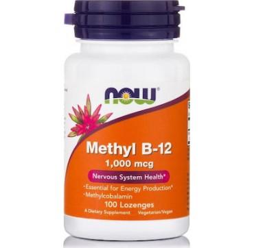 Now Methyl B-12, 1000 Mcg (methylcobalamin) 100 Παστίλιες