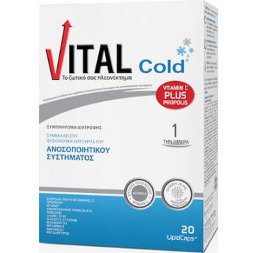 Vital Cold Εξειδικευμένο Συμπλήρωμα Διατροφής Για Την Ενίσχυση Του Ανοσοποιητικού, 20caps