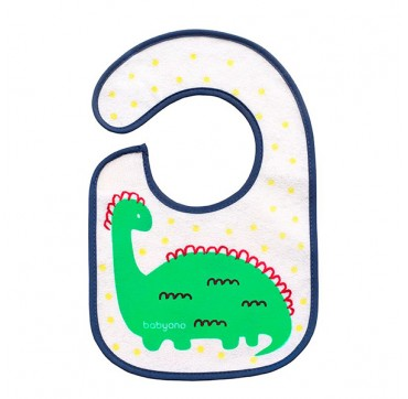 Babyono Terry Bib I Eat And I Grow 3 Months+ 20* 30cm 1τμχ