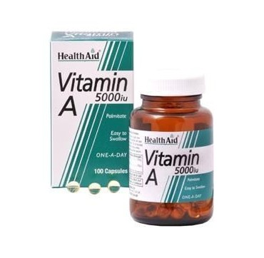 HEALTH AID VITAMIN A 5000IU 100caps