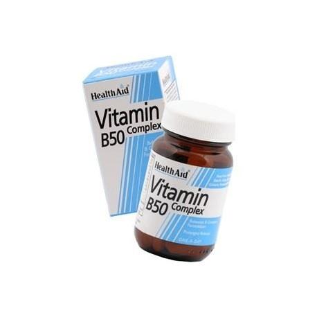 HEALTH AID VITAMIN B50 COMPLEX 30tabs