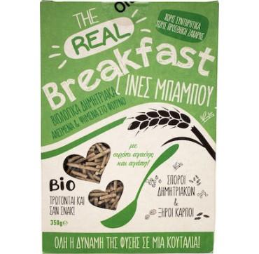 Βιο Αγρός The Real Breakfast Δημητριακά Με Ίνες Bamboo & Σιρόπι Αγαύης 350g