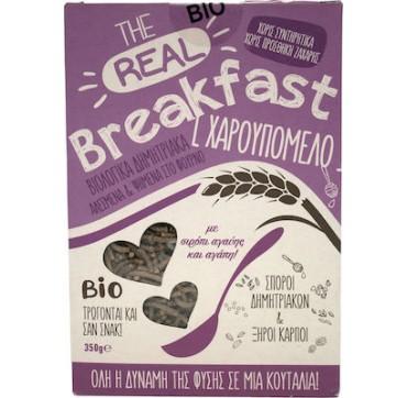 Βιο Αγρός The Real Breakfast Δημητριακά Με Χαρουπόμελο & Σιρόπι Αγαύης 350g
