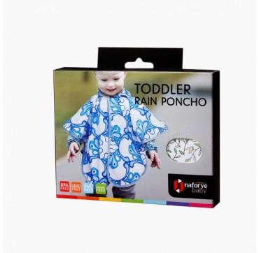 Naforye Baby - Toddler Rain Poncho 6+ Μηνών Λευκό με Φύλλα 1τμχ