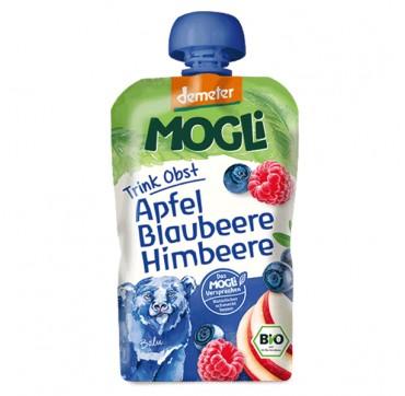 Mogli Bio Moothie Apple-blueberry-raspberry Παιδικός Πολτός 100% Φρούτων Με Μήλο – Μύρτιλο - Βατόμουρο 100ml