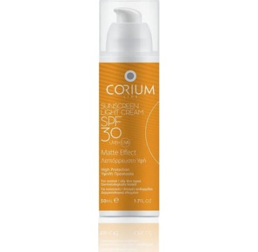 Corium Line Sunscreen Light Cream SPF30 Matte Effect 50ml