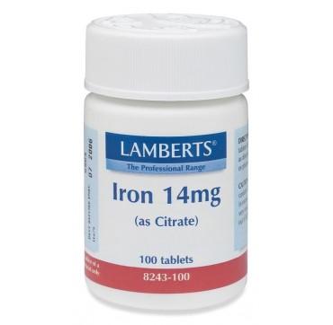 LAMBERTS IRON 14mg 100tabs