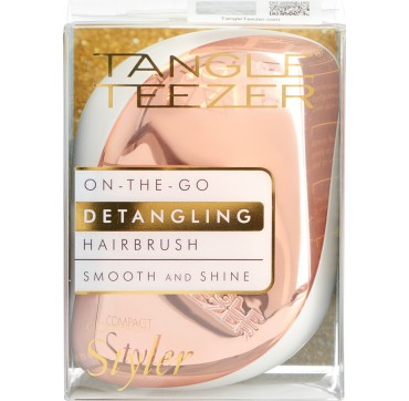 Tangle Teezer Compact Styler On The Go Detanglish Hairbrush Rose Gold Ivory 1τμχ