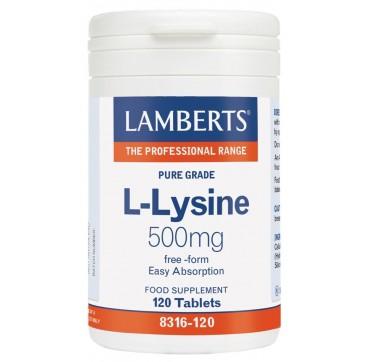 LAMBERTS L-LYSINE 500mg 120tabs