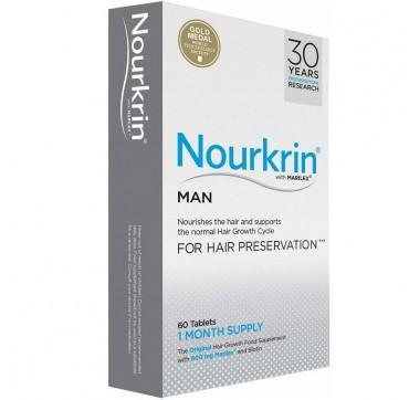 Nourkrin Man Συμπλήρωμα Διατροφής για την Πρόληψη & Αντιμετώπιση της Ανδρικής Τριχόπτωσης, 60 caps
