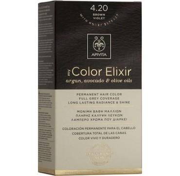 Apivita My Color Elixir Μόνιμη Βαφή Μαλλιών No 4.20 Καστανό Βιολετί, 1 τεμάχιο