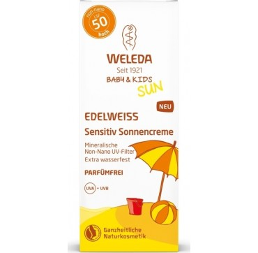 Weleda Sun Edelweiss Baby & Kids Sunscreen Lotion Sensitive SPF50 50ml