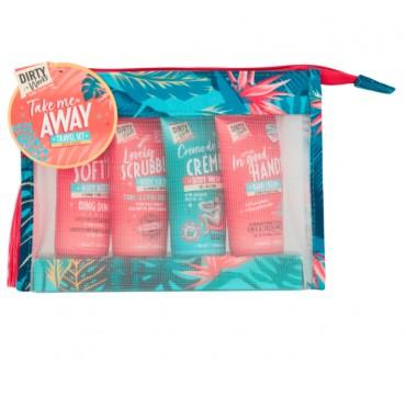 Take Me Away Travel Set Hand Crème 50ml, Body Wash 50ml, Body Scrub 50ml, Body Butter 50ml