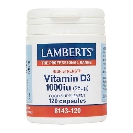 Lamberts Vitamin D3 1000iu (25μg) 120tabs
